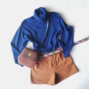 80's Knitivo Cobalt Blue Turtleneck Sweater